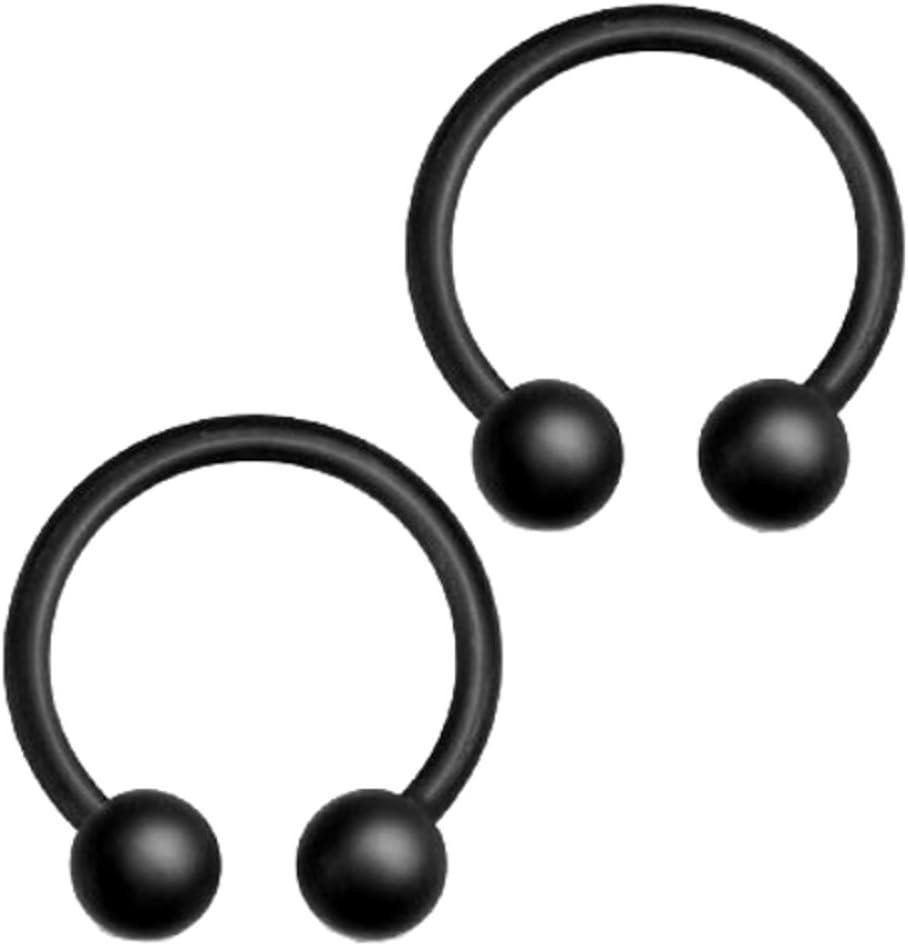 Twisted Chirurgical En Acier Inoxydable Nez Hoop Ring 16 Gauge 16 g diamètre 6 mm