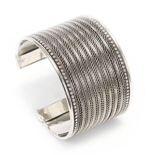 Silver Weave Bracelet (Brass Fine Weave Cuff Bracelet Silver Tone)