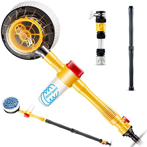 UMIWE Car Wash Cleaning Kit Chenille Car Wash Brush with Long Handle 360 Degree Rotary Car Wash Mop with 48