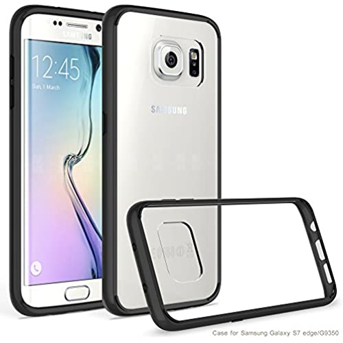 Galaxy S7 Edge Case, AOFU [Slim Hybrid] [Crystal Clear] Clear Back Panel + TPU Bumper for Samsung Galaxy S7 Edge-Black Sales