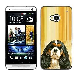 TopCaseStore / la caja del caucho duro de la cubierta de protección de la piel - Cavalier King Charles Spaniel Puppy - HTC One M7
