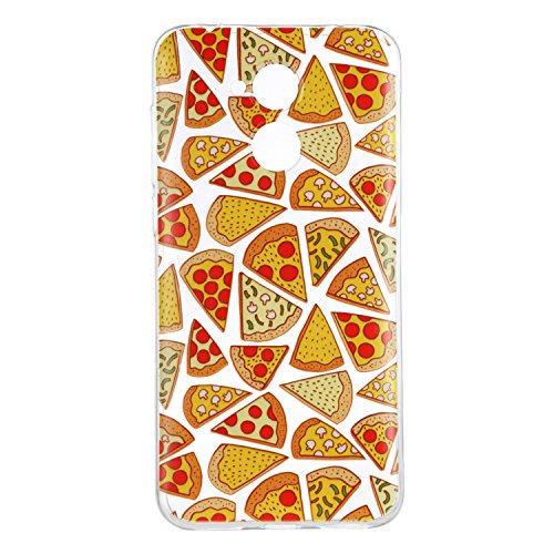 Honor 6C Case, Huawei Honor 6C Soft Case, Huawei Honor 6C Clear Back Cover, Cozy Hut Ultra Light Slim Shockproof Silicone TPU Gel Case [Ultra-Thin] [Lightweight] [Anti-Scratch] [Drop Protection] Trans Pizza