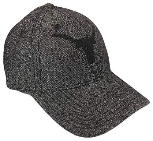 THS Longhorns Denim Adjustable Curved Bill Baseball Cap (One Size, Black) ()