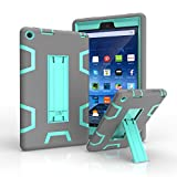 PC Hardware : Amazon Fire HD 8 2016 6th Case, Beimu Full-body Heavy Duty Armor Defender 3in1 Shock-Absorption / High Impact Resistant Combo Hybrid Silicone Skin + PC Plastic Case with Built-in Kickstand