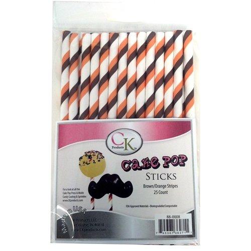 CK Products Cake Pop Sticks, 6-Inch, Brown/Orange 88-0008
