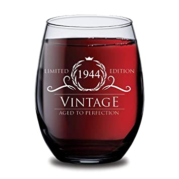 Amazoncom 1944 75th Birthday Gifts For Women And Men Wine Glass