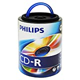 Philips 100 Pack 52X CDR Spindle with Handle