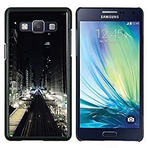 TECHCASE---Cubierta de la caja de protección para la piel dura ** Samsung Galaxy A5 ( A5000 ) 2014 Version ** --Luces de la calle Ver Edificios