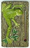 Room Thermometer Frog Statue Garden Resin Wall Plaque Decor Hanging Outdoor Indoor Temperature Zen Figure Home Ornament
