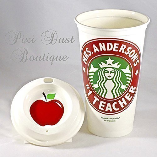Teacher Appreciation Gift by Personal Design Boutique | Personalized Starbucks Coffee Cup 16oz by Personal Design Boutique