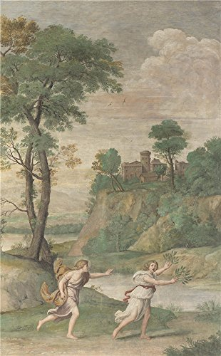 'Domenichino And Assistants Apollo Pursuing Daphne ' Oil Painting, 8 X 13 Inch / 20 X 33 Cm ,printed On Perfect Effect Canvas ,this Vivid Art Decorative Canvas Prints Is (Chrome Daphne Art)