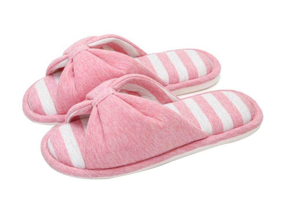 (Made By Cotton) Skidproof The Simple Style Of Home Slippers(Pink) Blancho Bedding