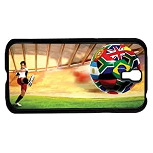 Man Kicking Soccer Ball with World Cup Team Flags Hard Snap on Phone Case (Galaxy s4 IV)
