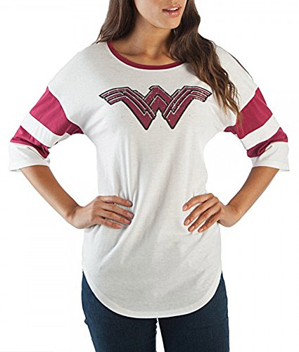 Bioworld Wonder Woman Strength Love Grace Juniors T-Shirt (Large) by Bioworld