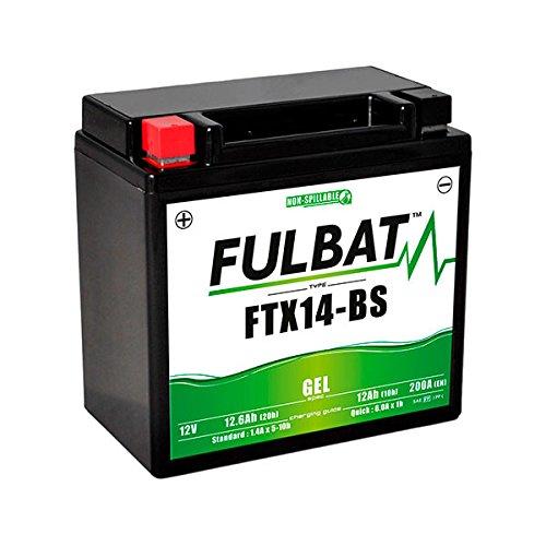 Fulbat Batteria moto Gel YTX14-BS//FTX14-BS 12V 12Ah