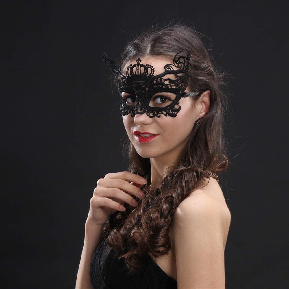 Ouinne 8 Pezzi Maschera Pizzo Veneziana Maschera Misteriosa del Merletto della Donna del Merletto per Halloween Mascherata Festa Costume Ballo