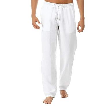 Pantalón Deporte Hombre, Color Puro Sencillo Pantalons de Trekking ...
