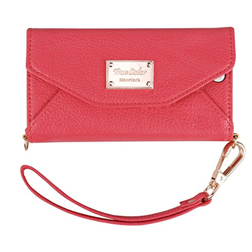 Premium Tri Fold Leatherette Wristlet Removable