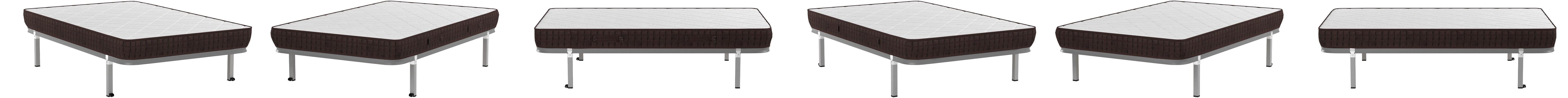 HOGAR24 ES Cama Completa-Colchón Viscobrown Reversible + Somier Basic + 4 Patas, 120x190