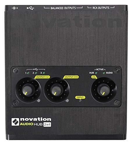 Novation AudioHub 2x4 2-in/4-out Combined Audio Interface & USB Hub by Novation