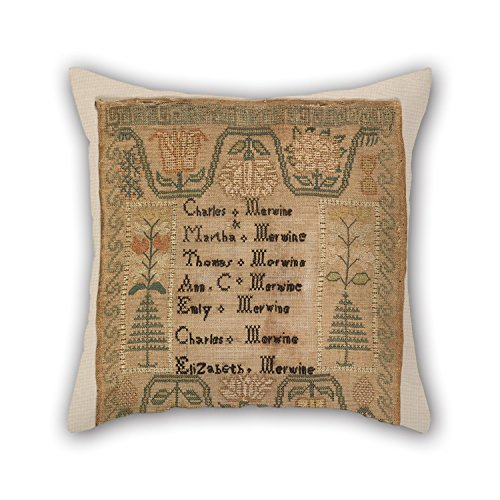 Pillow Shams Of Oil Painting Merwine Family - Sampler,for Relatives,bar Seat,pub,birthday,teens,outdoor 18 X 18 Inch / 45 By 45 Cm(2 Sides) ()