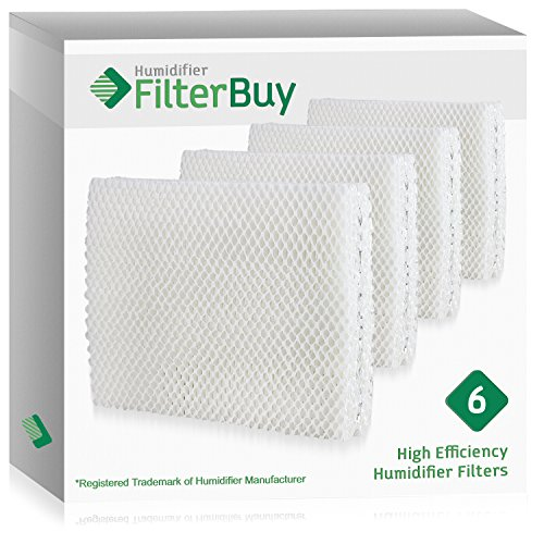(FilterBuy Replacement Humidifier Wick Filters Compatible with Vornado MD1-0001, MD1-0002, MD1-1002. Pack of 6.)