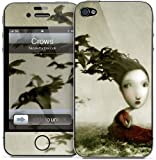 GelaSkins Protective Skin for the iPhone 4 Crows with Access to Matching Digital Wallpaper Downloads
