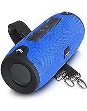 Caixa de Som Bluetooth Amplificada Potente Portátil TWS Rádio FM Pendrive Hi-fi (AZUL)