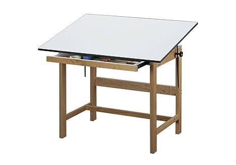 Titan de roble macizo mesa de dibujo - 48