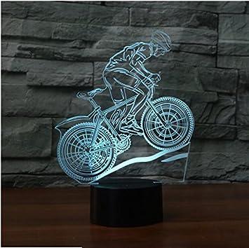 Amazon.com: Para bicicleta de montaña 3d Luz Nocturna 7 ...