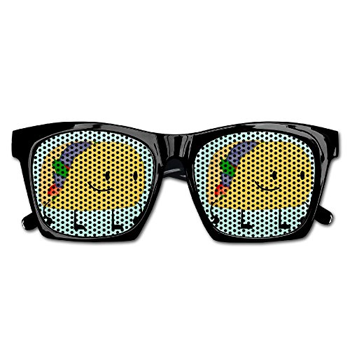 Elephant AN Themed Novelty Cute Taco Fashionable Visual Mesh Sunglasses Fun Props Party Favors Gift - Sunglasses Taco