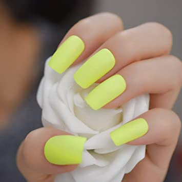 EchiQ uñas postizas de acrílico esmerilado con adhesivo de ...