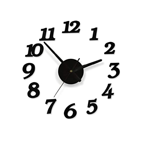 Sungpunet Reloj de Pared Digital de DIY del diseño del Arte Esponja de la Espuma de