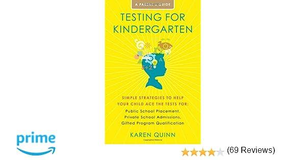 Amazon.com: Testing for Kindergarten: Simple Strategies to Help ...