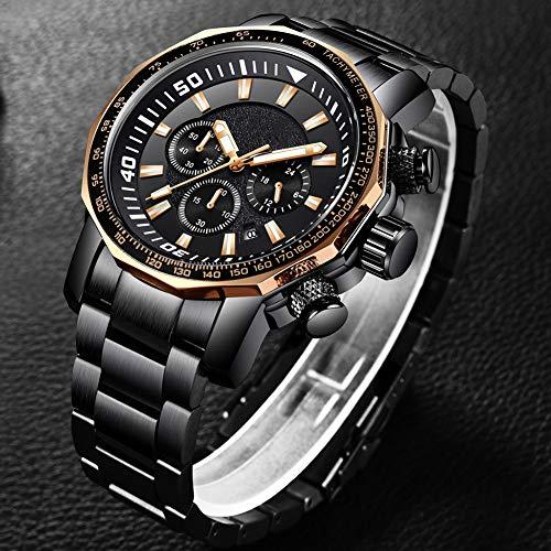 N·XHXL herrklocka, automatisk mekanisk klocka affärsmode vattentät sportklocka kronograf klocka, fantastiska gåvor för pappa pojkvän make