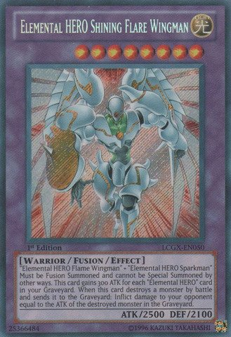Yu-Gi-Oh! - Elemental HERO Shining Flare Wingman (LCGX-EN050) - Legendary Collection 2 - Unlimited Edition - Secret Rare
