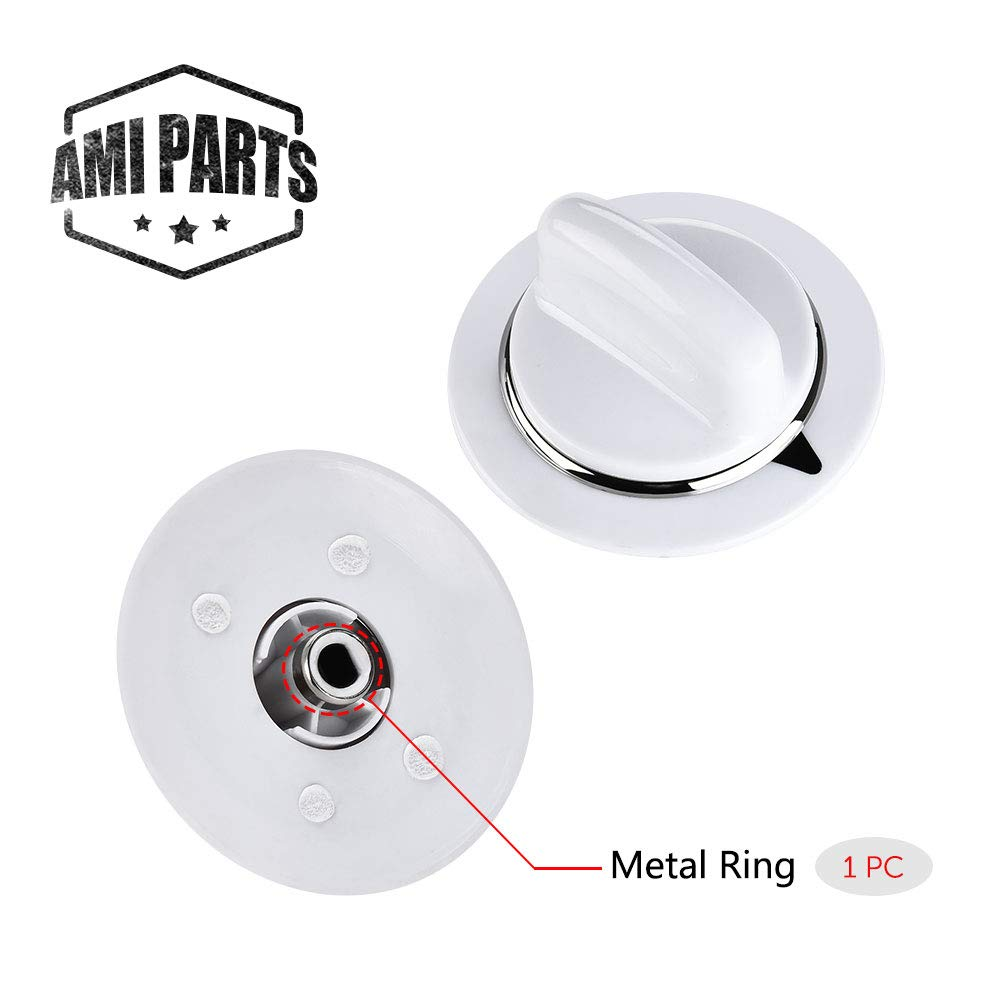 WE01x20374 Timer Control Knob WE1M654 with Metal Ring for General Electric Dryer & Hotpoint Dryers – Replaces AP3995098 WE01M0443 WE1M443