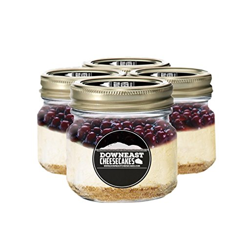 4 Pack Cherry Cheesecake In A Jar – Handmade in Maine Dessert Jars (Cherry)