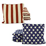 horseshoe game set cast iron - Weather Resistant Cornhole Bean Bags Set of 8 (Stars & Stripes)