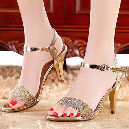 Scarpe Sandali da Sottile Bocca A Tacchi Trentotto In KPHY Dolce Pesce 8Cm donna Summer Spillo Argenteo Tacchi 0dxfgp
