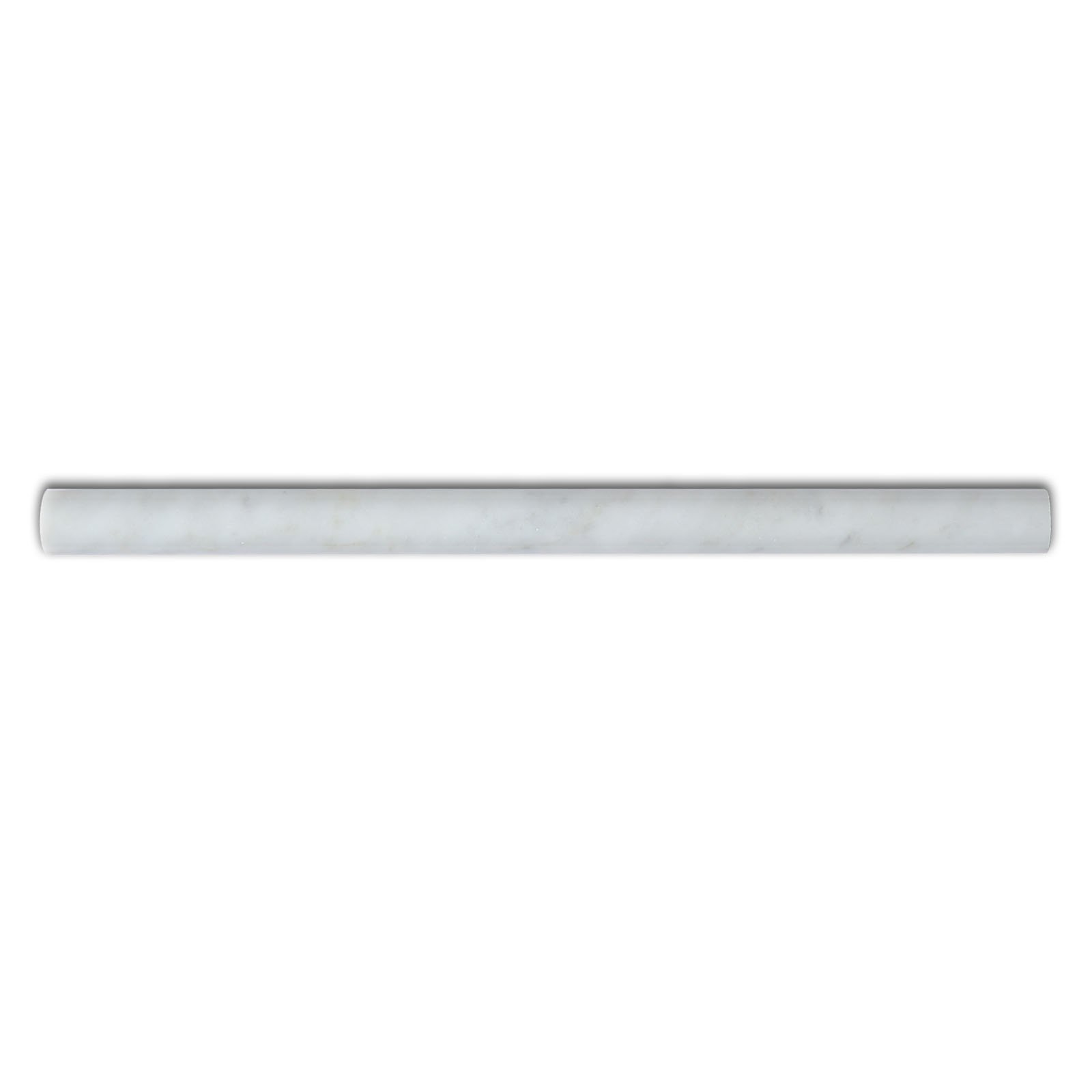 Carrara White Marble Moulding, CWMT34PEN, 12''X3/4''X3/4'' Pencil, Polished (Lot of 40 Pieces)