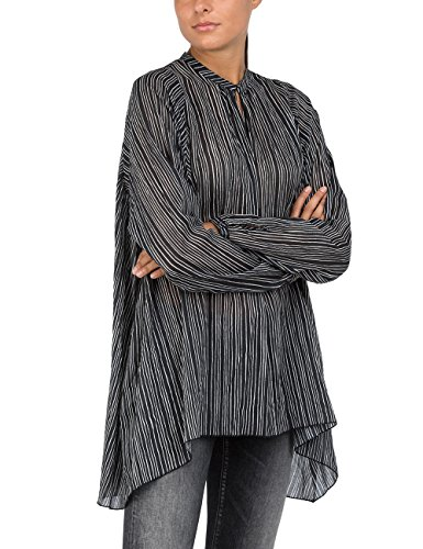 Replay Pin Mujer 10 Para Multicolor Blusa Stripes white black arvqaYw