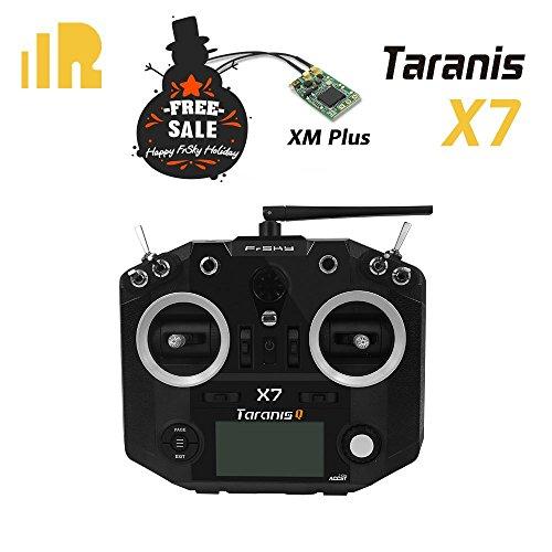 FrSky 2.4G ACCST Taranis Q X7 16 Channels Transmitter Black   FrSky XM+ for FREE