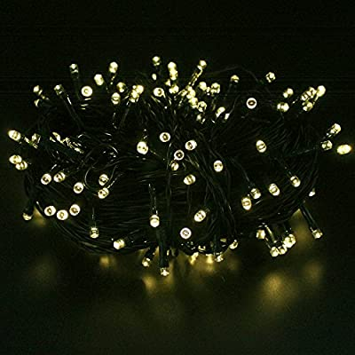 ELlight 7m 23ft 50LED Solar Lights ,Waterproof, 8 Modes Fairy String Lights, Party, Birthday, Christmas, Halloween Decorations, Corridor, Garden, Kitchen, Bedroom etc. Indoor Outdoor Use (Cool white)