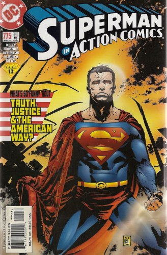 The And American Superman Justice Way Truth - Superman in Action Comics, No. 775