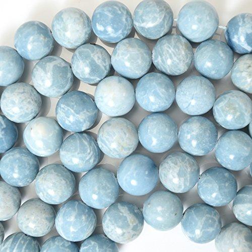 Larimar Round Beads Quartz Gemstone 15.5
