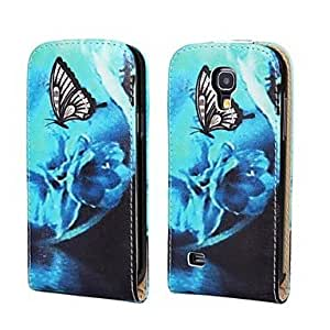 TOPQQ Dream Butterfly PU Leather Full Body Case with Strap and Sticker for Samsung Galaxy S4 Mini I9190