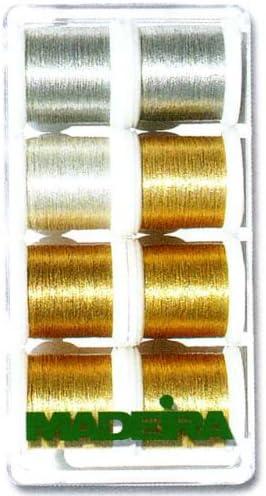 Madeira 8014 Heavy Metal - Caja de Hilos de Costura (8 bobinas de ...