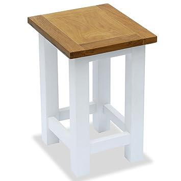 vidaXL Beistelltisch Eiche Massiv Wohnzimmertisch Blumenhocker Kleiner Tisch