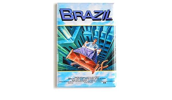 """Brazil Movie Poster Locker Magnet 2/"""" X 3/"""" Fridge Terry Gilliam"""